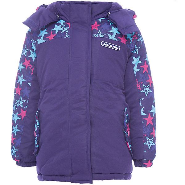 Куртка-парка Ma-Zi-Ma для девочкиВерхняя одежда<br>Характеристики товара:<br><br>• цвет: фиолетовый<br>• состав ткани: 100% полиэстер с водоотталкивающей пропиткой <br>• подкладка: поларфлис <br>• утеплитель: полиэстер<br>• сезон: зима<br>• температурный режим: от -30 до +5<br>• водонепроницаемость: 1000 мм <br>• паропроницаемость: 1000 г/м2<br>• плотность утеплителя: куртка - 280 г/м2, брюки - 200 г/м2<br>• капюшон: съемный, без меха<br>• застежка: молния<br>• страна бренда: Россия<br>• страна изготовитель: Китай<br><br>Удобная теплая куртка-парка для девочки позволит в холода создать ребенку комфортные условия. Верх детской зимней куртки - с водонепроницаемой пропиткой. Качественный наполнитель детской парки для зимы легкий и теплый. Куртка-парка для зимы дополнена элементами, защищающими от попадания внутрь снега.<br><br>Куртку-парку Ma-Zi-Ma (Ма-Зи-Ма) для девочки можно купить в нашем интернет-магазине.<br>Ширина мм: 356; Глубина мм: 10; Высота мм: 245; Вес г: 519; Цвет: лиловый; Возраст от месяцев: 120; Возраст до месяцев: 132; Пол: Женский; Возраст: Детский; Размер: 146,140,92,134,128,122,116,110,104,98,152; SKU: 7144353;