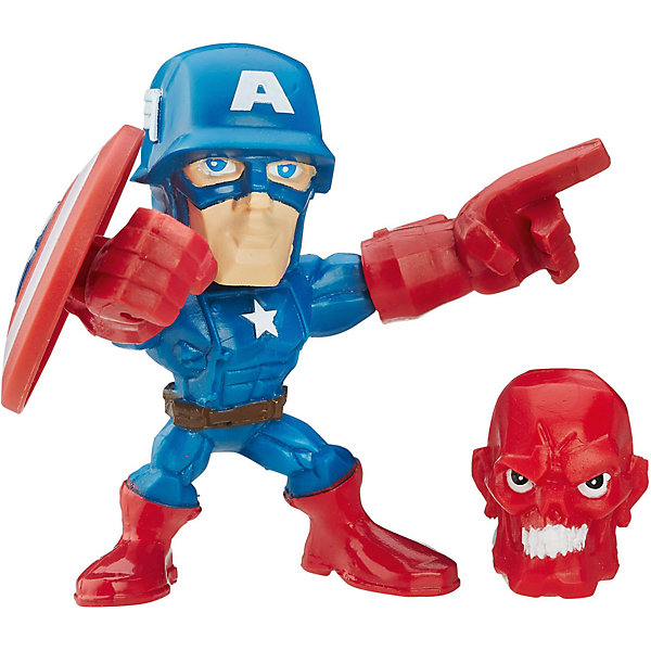 Hasbro Микро-фигурка Hasbro Marvel Super Hero Mashers, Капитан Америка 5 см цена