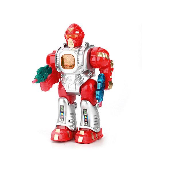 Интерактивный игрушка Играем вместе Супер Робот (свет, звук, движение)Роботы-игрушки<br>Характеристики:<br><br>• возраст: от 3 лет<br>• материал: пластик<br>• батарейки: 4xAA<br>• наличие батареек: не входят в комплект<br>• упаковка: картонная коробка блистерного типа<br>• размер упаковки: 14х8х23 см.<br>• вес: 350 гр.<br><br>Игрушка выполнена в виде фанатического робота с подвижными частями тела. Робот вооружён реалистичным оружием, которое во время игры светится, а также мерцают некоторые части корпуса робота. Игрушка может перемещаться вперед на небольшие расстояния. Робот оснащен звуковым модулем, воспроизводит стихи и песни.<br><br>Игрушка изготовлена из ударопрочного высококачественного пластика.<br><br>Робота со светом и звуком можно купить в нашем интернет-магазине.<br>Ширина мм: 140; Глубина мм: 230; Высота мм: 80; Вес г: 350; Возраст от месяцев: 36; Возраст до месяцев: 84; Пол: Мужской; Возраст: Детский; SKU: 7168152;