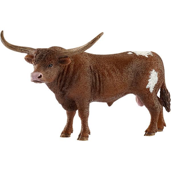 Schleich Коллекционная фигурка Schleich Животные с фермы Техасский бык Лонгхорн schleich корм для коров и телят