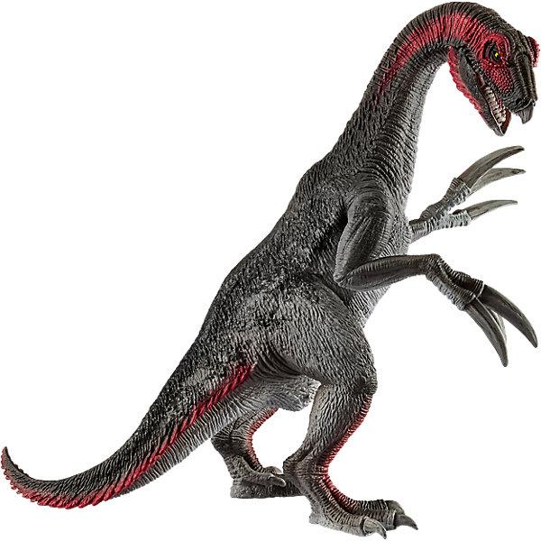 Коллекционная фигурка Schleich Динозавры ТеризинозаврМир животных<br>Характеристики:<br><br>• возраст: от 3 лет;<br>• материал: каучуковый пластик;<br>• размер игрушки: 19,5х13,5х19,5 см;<br>• размер упаковки: 19,5х13,5х19,5 см;<br>• страна бренда: Германия.<br><br>Фигурка от бренда Schleich – детализированная копия вымершего теризинозавра. Фигурка с точностью передает особенности строения тела животного, внешний вид кожи, характерную позу.<br><br>В изготовлении каждой фигурки «Шляйх» учитываются рекомендации педагогики для того, чтобы игрушка была интересна и полезна ребенку, комфортно располагалась в руках. Фигурка раскрашена вручную, сделана из прочных безопасных материалов, не вызывающих аллергию. Разработано при участии музея зоологии.<br><br>Фигурка подойдет для сюжетно-ролевых игр, а также может стать частью большой коллекции реалистичных копий животных Schleich.<br><br>Фигурку Schleich Теризинозавра можно купить в нашем интернет-магазине.<br>Ширина мм: 314; Глубина мм: 182; Высота мм: 126; Вес г: 282; Возраст от месяцев: 60; Возраст до месяцев: 144; Пол: Мужской; Возраст: Детский; SKU: 7168260;