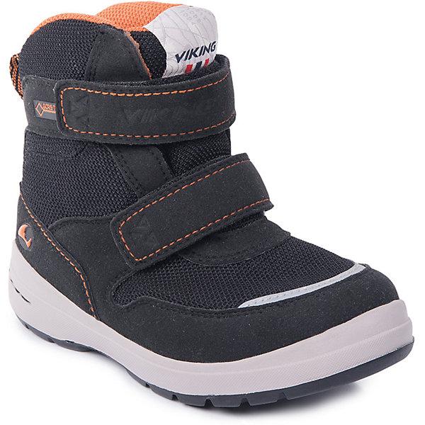 Ботинки Tokke GTX Viking для мальчикаБотинки<br>Характеристики товара:<br><br>• цвет: черный<br>• внешний материал: текстиль<br>• внутренний материал: полиэстер<br>• стелька: полиэстер<br>• подошва: натуральная резина<br>• сезон: зима<br>• мембранные <br>• температурный режим: от -25 до +5<br>• особенности модели: спортивный стиль<br>• застежка: липучки<br>• защита мыса <br>• подошва не скользит<br>• анатомические<br>• высокие<br>• страна бренда: Норвегия<br>• страна изготовитель: Вьетнам<br><br>Такие мембранные ботинки Viking сделаны по новейшей технологии, обеспечивающей их высокое качество и износостойкость. Мембранные ботинки для детей помогут обеспечить ногам тепло и сухость в холода. Эти детские ботинки от Viking обработаны специальным составом, предотвращающим попадание влаги и грязи внутрь. Детские ботинки отличаются легкими материалами.<br><br>Ботинки Tokke GTX Viking (Викинг) для мальчика можно купить в нашем интернет-магазине.<br>Ширина мм: 262; Глубина мм: 176; Высота мм: 97; Вес г: 427; Цвет: черный; Возраст от месяцев: 21; Возраст до месяцев: 24; Пол: Мужской; Возраст: Детский; Размер: 24,30,29,28,27,26,23,22,25; SKU: 7169070;