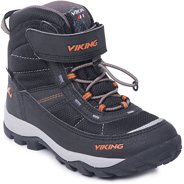 Ботинки Sludd EL/VEL GTX Viking для мальчикаБотинки<br>Характеристики товара:<br><br>• цвет: черный<br>• внешний материал: текстиль, экозамша<br>• внутренний материал: полиэстер<br>• стелька: полиэстер<br>• подошва: натуральная резина, EVA<br>• сезон: зима<br>• мембранные <br>• температурный режим: от -25 до +5<br>• особенности модели: спортивный стиль<br>• застежка: шнурки, липучка<br>• защита мыса <br>• подошва не скользит<br>• анатомические<br>• высокие<br>• страна бренда: Норвегия<br>• страна изготовитель: Вьетнам<br><br>Такие мембранные ботинки Viking сделаны по новейшей технологии, обеспечивающей их высокое качество и износостойкость. Мембранные ботинки для детей помогут обеспечить ногам тепло и сухость в холода. Эти детские ботинки от Viking обработаны специальным составом, предотвращающим попадание влаги и грязи внутрь. Детские ботинки отличаются легкими материалами.<br><br>Ботинки Sludd EL/VEL GTX Viking (Викинг) для мальчика можно купить в нашем интернет-магазине.<br>Ширина мм: 262; Глубина мм: 176; Высота мм: 97; Вес г: 427; Цвет: черный; Возраст от месяцев: 60; Возраст до месяцев: 72; Пол: Мужской; Возраст: Детский; Размер: 29,38,37,36,35,34,33,32,31,30; SKU: 7169129;
