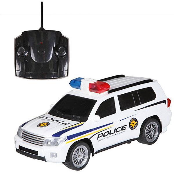 Радиоуправляемая машинка Yako Toys Полицеский джипРадиоуправляемые машины<br>Характеристики товара:<br><br>• возраст: от 5 лет;<br>• цвет: черно-белый;<br>• комплект: машинка, пульт управления;<br>• тип питания машинки: 4 x AA;<br>• тип питания пульта: 2 x AA;<br>• наличие батареек: не входят в комплект;<br>• состав: пластик, металл;<br>• размер упаковки: 30х29х21 см.;<br>• вес в упаковке: 1,2 кг.;<br>• упаковка: картонная коробка блистерного типа;<br>• бренд, страна: Yako Toys, Китай;<br>• страна-производитель: Китай.<br><br>Машинка «Джип полицейский» на радиоуправлении от торговой марки  Yako Toys представляет собой игрушку для мальчиков, позволит придумать немало сюжетных игр, в ходе которых отважные полицейские будут преследовать злоумышленника. Игрушка выполнена в виде мощного внедорожника белого цвета с полицейской маркировкой. <br><br>Движениями самой машинки можно управлять на расстоянии с помощью пульта радиоуправления. Световые и звуковые эффекты, встроенные в игрушку, помогут сымитировать звук и мигание огней включенной сирены.<br><br>Реалистичный дизайн и все функции игрушки приведут в восторг любого мальчика и поклонника автотранспорта. Игрушки от бренда от Yako Toys выполнены из высокачественного материала безвредного для детского здоровья.<br><br>Машинку «Джип полицейский» на радиоуправлении, цвет чернно-белый, Yako Toys (Яко Тойз)  можно купить в нашем интернет-магазине.<br>Ширина мм: 440; Глубина мм: 180; Высота мм: 170; Вес г: 1170; Возраст от месяцев: 36; Возраст до месяцев: 72; Пол: Мужской; Возраст: Детский; SKU: 7172276;