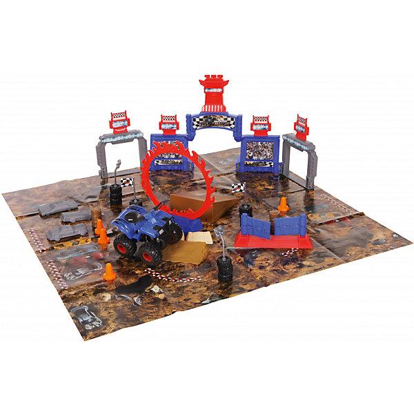Yako Игровой набор Yako Toys Стадион. Битва машин, 40 деталей + 1 машинка набор игровой для мальчика poli средний трек с умной машинкой