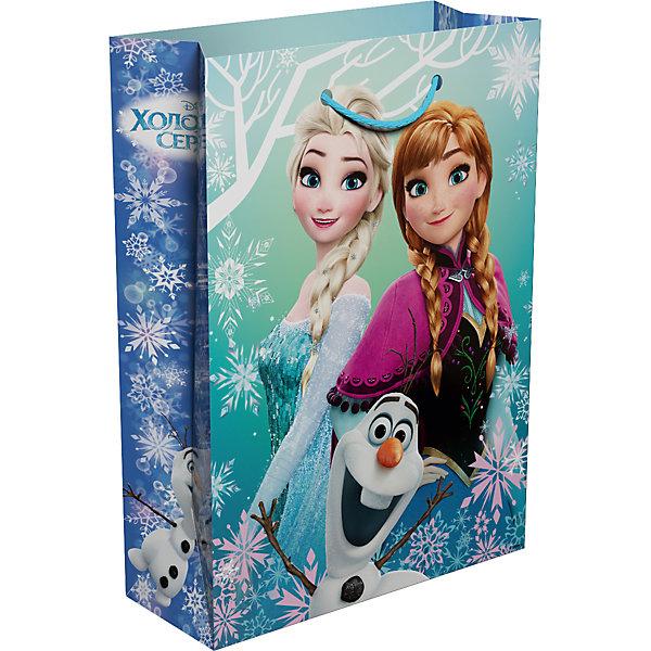Подарочный пакет Росмэн Холодное сердцеДетские подарочные пакеты<br>Подарочный бумажный пакет ТМ Disney Холодное сердце декорирован милым, романтичным принтом. Размер: 35х25х9 см. Плотность бумаги: 128 г/м2.<br>Ширина мм: 350; Глубина мм: 250; Высота мм: 3; Вес г: 62; Возраст от месяцев: 36; Возраст до месяцев: 144; Пол: Женский; Возраст: Детский; SKU: 7175769;