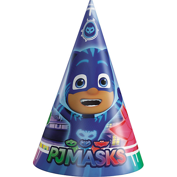 Росмэн Бумажные колпачки Росмэн Герои в масках. PJ Masks, 6 шт. 3 new designs 7 5 9 5cm pj characters catboy owlette gekko cloak masks action figure toys boy birthday xmas gift plastic dolls