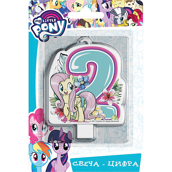 Росмэн Свеча для торта Росмэн My little Pony. Свеча-цифра 2 свеча для торта paterra цифра 5