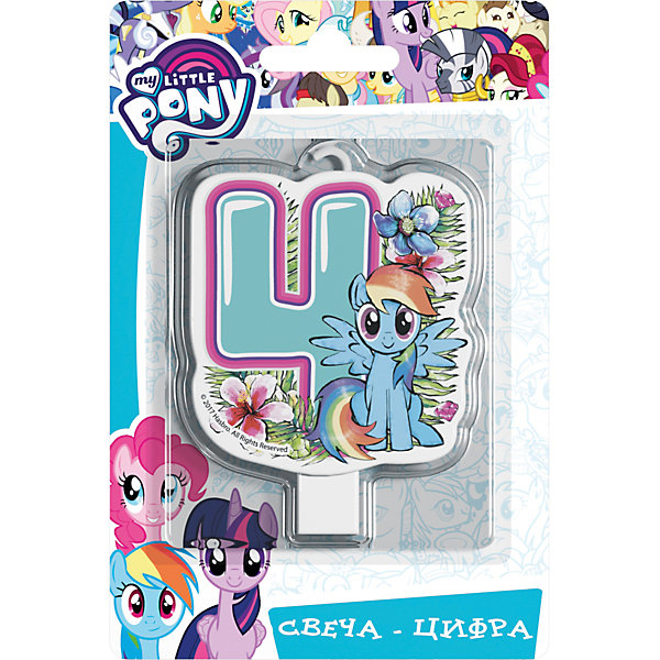 Росмэн Свеча для торта Росмэн My little Pony. Свеча-цифра 4 2018 fashion business notebook business loose leaf notebook a5 notebook with calculator multi functional loose leaf