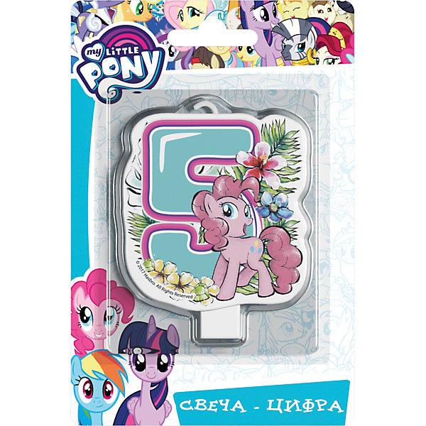 Росмэн Свеча для торта My little Pony. Свеча-цифра 5