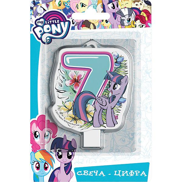Росмэн Свеча для торта My little Pony. Свеча-цифра 7