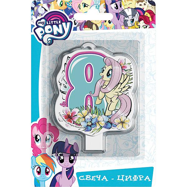 Росмэн Свеча для торта My little Pony. Свеча-цифра 8