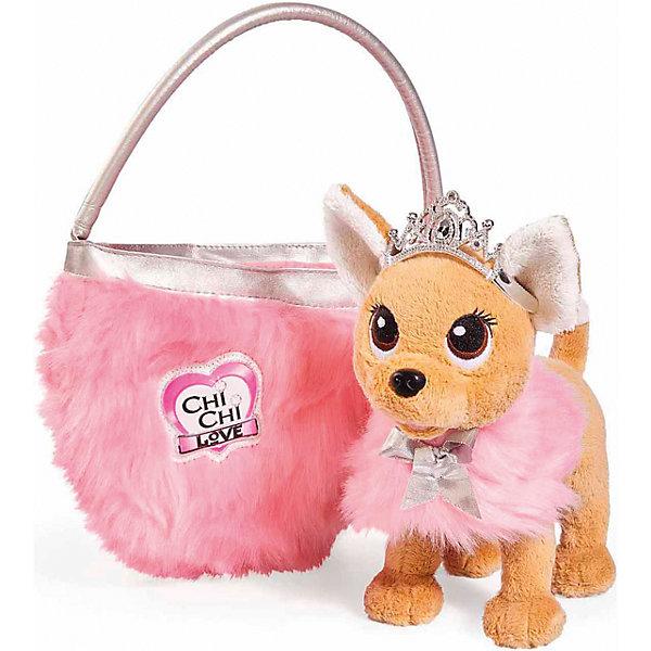 """Simba Мягкая игрушка Simba Chi Chi Love """"Собачка-принцесса с пушистой сумкой"""", 20 см"""