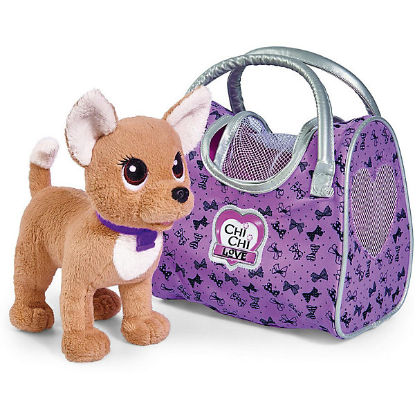 Мягкая игрушка Simba Chi Chi Love Собачка-путешественница с сумкой-переноской, 20 смМягкие игрушки-собаки<br>Характеристики товара:<br><br>• возраст: от 5 лет<br>• комплект: собака, сумка.<br>• материал: плюш, наполнитель, металл, пластик.<br>• размер упаковки: 29х17х31 см.<br>• упаковка: картонная коробка открытого типа.<br>• высота игрушки: 20 см.<br>• страна обладатель бренда: Германия.<br><br>Путешествовать - это так увлекательно, а с лучшим другом - это увлекательно вдвойне! Мягкая игрушка Chi Chi Love Собачка Чихуахуа: Путешественница от немецкого бренда Simba приведет в восторг любую девочку, мечтающую завести для себя маленького питомца.<br><br>Чтобы не потеряться на собачке яркий ошейник с кулончиком в виде сердечка, где указано ее имя - ChiChiLove. Мягкая и пушистая ЧиЧиЛав станет любимицей своей хозяйки и с радостью разделит с ней все путешествия!<br><br>Эта милая собачка, сшитая из необычайно приятного на ощупь плюша и гипоаллергенного наполнителя с использованием высококачественной фурнитуры, представлена в шикарной прогулочной сумочке с серебристыми ручками и окошками в виде сердечек.<br>Собачка представлена в светлом цвете.<br><br>Мягкую игрушку Simba Chi Chi Love Собачка-путешественница с сумкой-переноской, 20 см можно купить в нашем интернет-магазине.<br>Ширина мм: 99; Глубина мм: 99; Высота мм: 99; Вес г: 99; Возраст от месяцев: 60; Возраст до месяцев: 108; Пол: Женский; Возраст: Детский; SKU: 7177201;