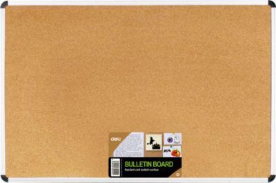 Пробковая доска Deli, 45х60 (алюминиевая рама), артикул:7179049 - Школьная канцелярия