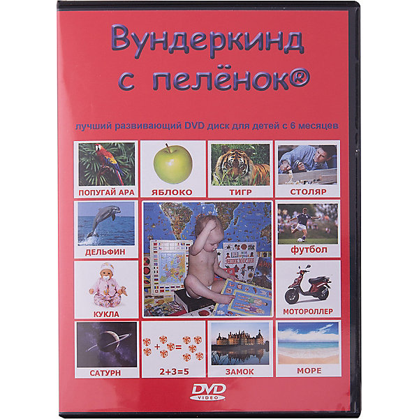 Вундеркинд с пелёнок Развивающий DVD-диск Вундеркинд с пелёнок на русском языке вундеркинд с пеленок домана цвета