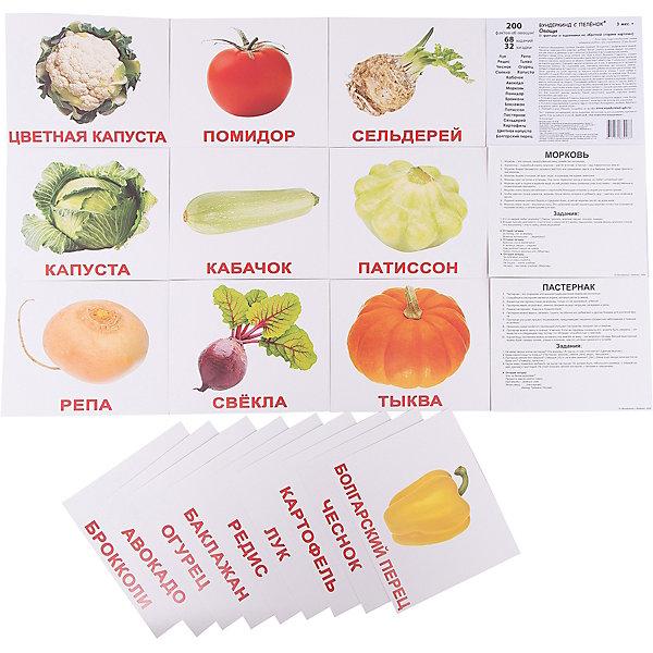 Вундеркинд с пелёнок Набор обучающих карточек Овощи 20 штук