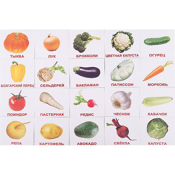Купить Набор обучающих мини-карточек Вундеркинд с пелёнок Овощи 20 штук, Россия, Унисекс