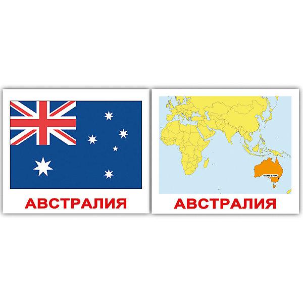 Вундеркинд с пелёнок Набор обучающих мини-карточек Страны. Флаги. Столицы 40 штук