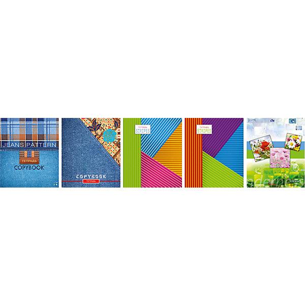 Комплект тетрадей в клетку АппликА Твой стиль-1 5 шт, 48 листовТетради<br>Характеристики товара:<br><br>• количество тетрадей: 5;<br>• количество листов: 48;<br>• формат: А5;<br>• возраст: от 3 лет;<br>• материал: типографская бумага;<br>• обложка: офсет;<br>• размер упаковки: 20х16х2,5 см;<br>• страна-производитель: Россия. <br><br>«Твой стиль -1 » - набор общих тетрадей, отличающийся хорошим качеством и оригинальным дизайном. В комплект входят пять тетрадей с красными полями и линовкой в голубую клетку.  Внутренний блок и обложка скреплены металлическими скобами. Внутренний блок изготовлен из качественной типографской бумаги, обложка - офсет.<br><br>Комплект общих тетрадей в клетку из 5шт., Ассорти Твой стиль-1 - 48 листов формата А5, КТС-ПРО можно купить в нашем интернет-магазине.<br>Ширина мм: 200; Глубина мм: 165; Высота мм: 25; Вес г: 500; Возраст от месяцев: 36; Возраст до месяцев: 1188; Пол: Унисекс; Возраст: Детский; SKU: 7185415;
