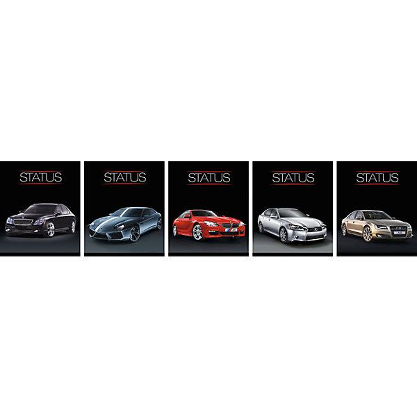 Комплект тетрадей в клетку АппликА Luxury Car 5 шт, 48 листовТетради<br>Характеристики товара:<br><br>• количество тетрадей: 5;<br>• количество листов: 48;<br>• формат: А5;<br>• возраст: от 3 лет;<br>• материал: офсет;<br>• обложка: мелованный картон;<br>• размер упаковки: 20х16,5х2,5 см;<br>• страна-производитель: Россия. <br><br>Комплект «Ассорти Luxury Car» обязательно порадует поклонников крутых автомобилей. В набор входят 5 общих тетрадей в клетку, формат А5. Все тетради дополнены четкими полями. Внутренний блок изготовлен из плотной офсетной бумаги, обложка - мелованный картон. Обложки с изображением роскошных автомобилей дополнены выборочной лакировкой и двойным тиснением фольгой.<br><br>Комплект общих тетрадей в клетку из 5шт., Ассорти Luxury Car - 48 листов формата А5, КТС-ПРО можно купить в нашем интернет-магазине.<br>Ширина мм: 200; Глубина мм: 165; Высота мм: 25; Вес г: 550; Возраст от месяцев: 36; Возраст до месяцев: 1188; Пол: Мужской; Возраст: Детский; SKU: 7185420;