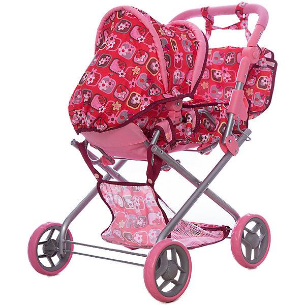Коляска для кукол Карапуз, с переноской и сумкойТранспорт и коляски для кукол<br>Характеристики товара:<br><br>• возраст: от 3 лет;<br>• пол: для девочек;<br>• вес: 3,6 кг.;<br>• комплект: коляска, переноска, сумка;<br>• из чего сделана игрушка (состав): текстиль, пластик, металл;<br>• размер упаковки: 54х16х39 см.;<br>• упаковка: картонная коробка;<br>• страна обладатель бренда: Россия.<br><br>Коляска для кукол имеет яркую и пеструю расцветку с преобладающей розовой цветовой гаммой.<br> <br>У коляски откидывается и полностью снимается тент, кроме того, ее люлька устроена так, что она может выниматься с помощью ручек и использоваться в качестве переноски. Под дном коляски находится вместительная корзина для игрушек или личных вещей малышки.<br><br>В комплекте также находится большая сумка- в которую можно сложить вещи куклы или другие игрушки.<br><br>Коляску для кукол можно купить в нашем интернет-магазине.<br>Ширина мм: 54; Глубина мм: 16; Высота мм: 39; Вес г: 3600; Возраст от месяцев: 36; Возраст до месяцев: 84; Пол: Унисекс; Возраст: Детский; SKU: 7185695;