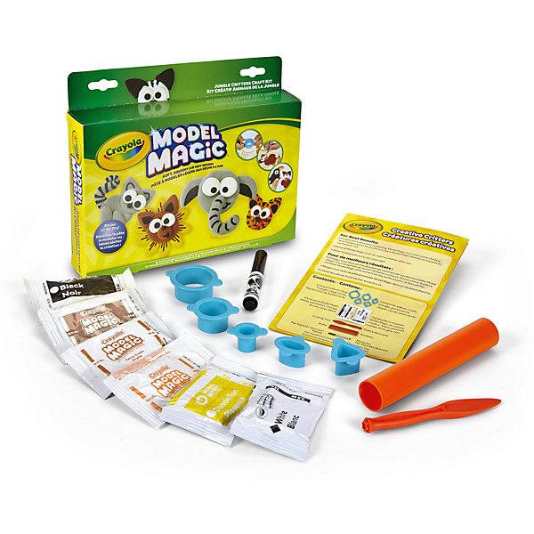 Набор для творчества Crayola Пластилиновые джунглиНаборы для лепки игровые<br>Характеристики товара:<br><br>• возраст: от 4 лет;<br>• упаковка: картонная коробка;<br>• комплект: пластилин, трубочка, маркер, пять насадок, ножик;<br>• размеры упаковки: 25х20х4 см.;<br>• вес упаковки: 220 гр.; <br>• материал: пластилин, пластик, бумага;<br>• бренд: Crayola (Крайола);<br>• страна-производитель: США.<br><br>Набор для творчества «Пластилиновые Джунгли» от американского производителя Crayola поможет вашему малышу проявить фантазию и весело провести досуг, создавая веселых диких зверушек.<br><br>С помощью насадок разной формы и размера можно будет лепить отдельные части будущих фигурок. После присоединения их друг к другу получатся стилизованные забавные изделия. Этот мягкий пластилин имеет приятный запах, отлично лепится и не прилипает к рукам.<br><br>Увлекательный набор станет отличным подарком для девочек и мальчиков старше 4 лет. <br>Игры с пластилином способствуют развитию мелкой моторики, координации движений, усидчивости, воображения и множеству других полезных навыков.<br><br>Товары для творчества от американского производителя Crayola изготовлены из безопасных для здоровья ребенка материалов, прошедших соответствие европейским стандартам качества. <br><br>Набор для творчества «Пластилиновые Джунгли» Crayola (Крайола) можно купить в нашем интернет-магазине.<br>Ширина мм: 40; Глубина мм: 250; Высота мм: 200; Вес г: 220; Возраст от месяцев: 48; Возраст до месяцев: 2147483647; Пол: Унисекс; Возраст: Детский; SKU: 7187849;