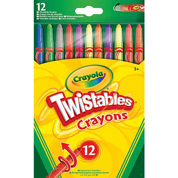 Crayola Выкручивающиеся восковые мелки Crayola, 12 штук