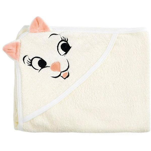 Полотенце с капюшоном Кошки Fun Dry, Twinklbaby, светло-бежевый с персиковыми ушками