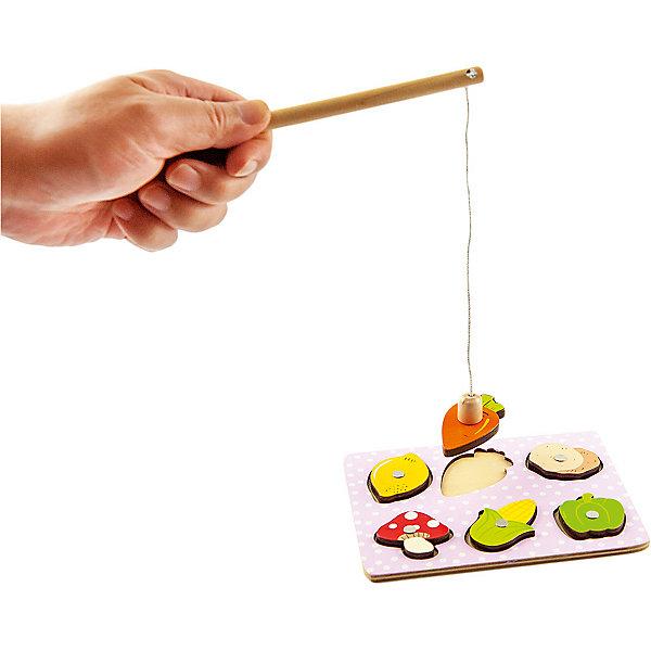 Игра-рабалка Mapacha ОвощиСпортивные настольные игры<br>Характеристики товара:<br><br>• возраст: от 3 лет;<br>• комплектация: игровое поле, магнитная удочка, 6 деталей;<br>• материал: дерево;<br>• размер: 15,5х0,5х11,5 см;<br>• вес: 88 гр.<br><br>Игра-рыбалка «Овощи» - это весёлая и  полезная для развития ребёнка игрушка.Для начала игры нужно будет разложить овощи в соответствующие им отверстия на игровом поле и поймать как можно больше овощей на магнитную удочку. Игра развивает тактильные ощущения, мелкую моторику рук, координацию движений, ловкость, меткость и сообразительность. <br><br>Игра-рабалка «Овощи» можно купить в нашем интернет-магазине.<br>Ширина мм: 155; Глубина мм: 5; Высота мм: 115; Вес г: 88; Возраст от месяцев: -2147483648; Возраст до месяцев: 2147483647; Пол: Унисекс; Возраст: Детский; SKU: 7189973;