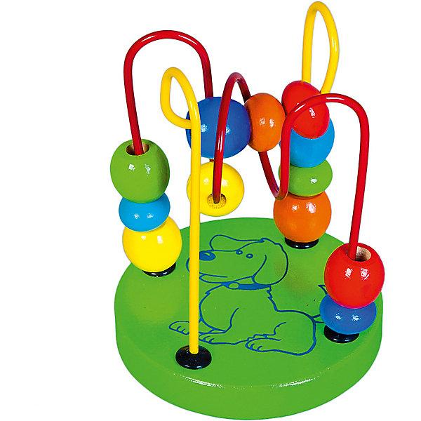 Лабиринт Mapacha маленький, зеленыйДеревянные игрушки<br>Характеристики товара:<br><br>• возраст: от 3 лет;<br>• комплектация: 48 деталей;  <br>• материал: дерево, пластик;<br>• размер: 9х9х12 см;<br>• вес: 129 гр.<br><br>Лабиринт - это увлекательная игрушка, предназначена специально для развития мелкой моторики рук у малышей.Ребёнку очень понравится передвигать  яркие, разноцветные бусины по крутому и извилистому лабиринту. Изделие изготовлено из натуральной древесины.<br><br>Лабиринт маленький, зеленый можно купить в нашем интернет-магазине.<br>Ширина мм: 90; Глубина мм: 90; Высота мм: 125; Вес г: 129; Цвет: зеленый; Возраст от месяцев: -2147483648; Возраст до месяцев: 2147483647; Пол: Унисекс; Возраст: Детский; SKU: 7189985;