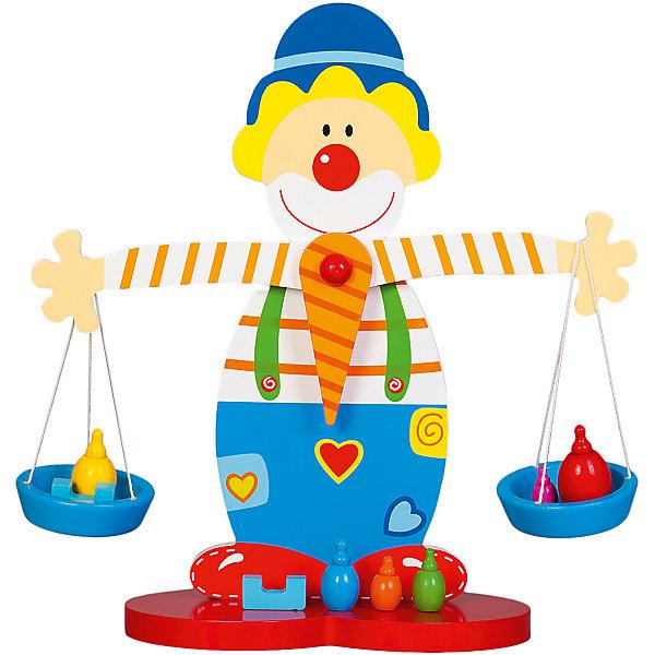 Весы КлоунРазвивающие игрушки<br>Характеристики товара:<br><br>• возраст: от 3 лет;<br>• материал: дерево;<br>• в комплекте: весы, 8 деталей;<br>• размер игрушки: 26,5х25х9 см;<br>• размер упаковки: 27х26х10 см;<br>• вес упаковки: 500 гр.;<br>• страна производитель: Китай.<br><br>Весы «Клоун» Mapacha — развивающая игрушка-баланс для малышей в виде клоуна, который держит в руках весы. Она познакомит ребенка с понятиями формы, веса и равновесия. Игрушка выполнена из качественного натурального дерева, хорошо отшлифована и окрашена безопасными красителями.<br><br>Весы «Клоун» Mapacha можно приобрести в нашем интернет-магазине.<br>Ширина мм: 255; Глубина мм: 95; Высота мм: 265; Вес г: 531; Возраст от месяцев: -2147483648; Возраст до месяцев: 2147483647; Пол: Унисекс; Возраст: Детский; SKU: 7190068;