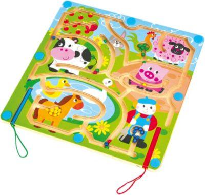 Фото - Mapacha Магнитный лабиринт Домашние животные развивающая игрушка mapacha суперкуб разноцветный