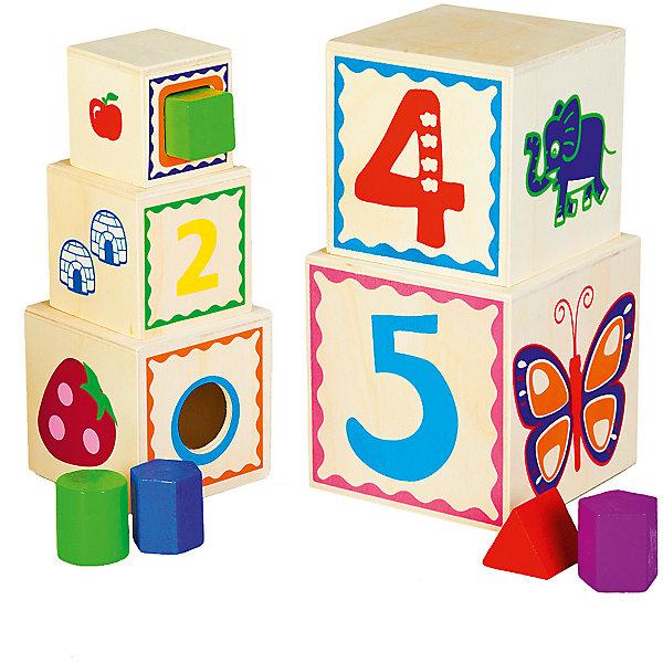 Mapacha Сортер-матрешка Mapacha Волшебный куб матрешка 5м дерево 17 см расписнаягуашь