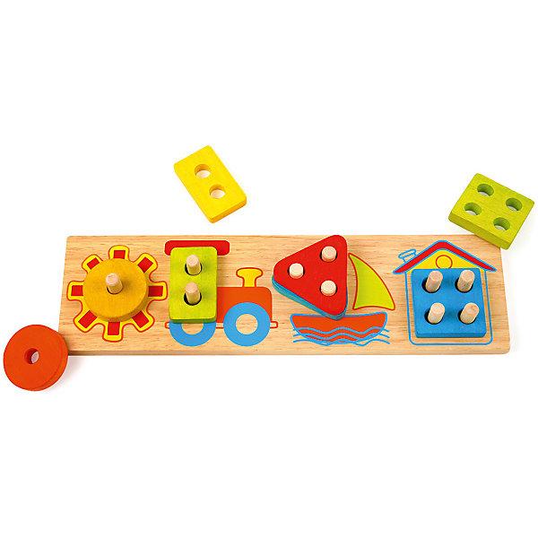 Рамка-вкладыш Mapacha ЛетоРамки-вкладыши<br>Характеристики товара:<br><br>• возраст: от 3 лет;<br>• комплектация: игровое поле, 8 деталей-вкладышей;<br>• материал: дерево;<br>• размер: 32х9х3,5 см;<br>• вес: 356 гр.<br><br><br>Вкладыши «Лето» - это весёлая и  полезная для развития ребёнка игра .<br><br>Набор состоит из игрового поля с 10-ю осямя и 8-ми деталей-вкладышей разной формы и разного цвета. Ребенку предстоит установить все вкладыши на свои места, ориентируясь на количество отверстий в каждой детали и количество осей на каждом рисунке.<br><br>Изделие выполнено из натурального дерева, не имеет острых углов и шероховатых поверхностей. Игра направлена на развитие глазомера, моторики руки, памяти и внимания, а ещё знакомят их с разными формами и цветами. <br><br>Вкладыши «Лето» можно купить в нашем интернет-магазине.<br>Ширина мм: 320; Глубина мм: 90; Высота мм: 35; Вес г: 356; Возраст от месяцев: -2147483648; Возраст до месяцев: 2147483647; Пол: Унисекс; Возраст: Детский; SKU: 7190096;