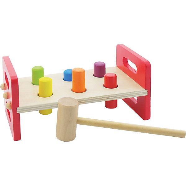 Игра-стучалка Mapacha МолоточекДеревянные стучалки<br>Характеристики товара:<br><br>• возраст: от 3 лет;<br>• комплектация: основа, 6 столбиков, молоток; <br>• материал: дерево;<br>• размер: 23х11х11 см;<br>• вес: 479 гр.<br><br>Игра-стучалка «Молоточек» увлекательная игра для ребенка. В комплект входит устойчивая основа с отверстиями, 6 разноцветных столбиков-гвоздиков и сам молоточек, который очень удобно держать. Все элементы игрушки выполнены из натурального дерева и окрашены безопасными для здоровья детей красками.<br><br>Игра-стучалка «Молоточек» можно купить в нашем интернет-магазине.
