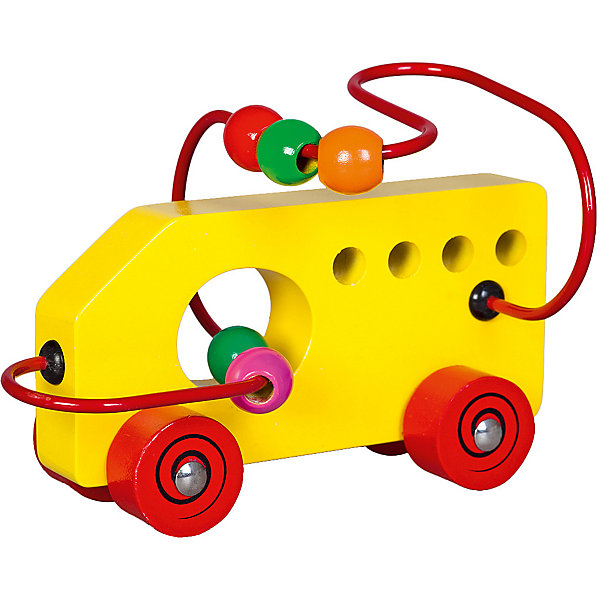 Лабиринт-каталка Mapacha МашинкаДеревянные игрушки<br>Характеристики товара:<br><br>• возраст: от 3 лет;<br>• материал: дерево;<br>• размер: 19х10,5х12 см;<br>• вес: 292 гр.<br><br>С игрой Лабиринт-каталка «Машинка» ребенок быстро научится счету. Ребенку нужно передвигать пальчиками разноцветные бусины по крутому и извилистому лабиринту. А ещё машинку можно катать. Изделие изготовлено из натуральной древесины. <br><br>Игра направлена на развитие мелкой моторики рук, памяти, логики и сообразительности.<br><br>Лабиринт-каталка «Машинка» можно купить в нашем интернет-магазине.
