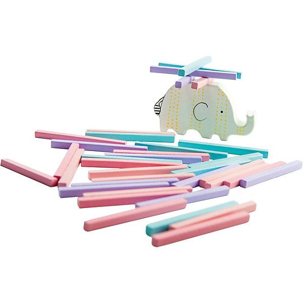 Игра-баланс Mapacha СлоникОбучающие игры для дошкольников<br>Характеристики товара:<br><br>• возраст: от 3 лет;<br>• комплектация: 37 деталей;<br>• материал: дерево;<br>• размер: 13х4х19.5 см;<br>• вес: 156 гр.<br><br><br>Игра-баланс «Слоник» - это весёлая и  полезная для развития ребёнка игрушка .<br><br>Нужно построить башню из брусочков на спине слоника так, чтобы конструкция сохранила равновесие и ни один брусочек не упал. Тот, кто нарушит равновесие башни, считается проигравшим. <br><br>Игра изготовлена из натуральной древесины, тренирует у ребенка мелкую моторику рук, координацию движений, ловкость, внимание и смекалку. <br><br>Игра-баланс «Слоник» можно купить в нашем интернет-магазине.<br>Ширина мм: 130; Глубина мм: 40; Высота мм: 195; Вес г: 156; Возраст от месяцев: -2147483648; Возраст до месяцев: 2147483647; Пол: Унисекс; Возраст: Детский; SKU: 7190146;