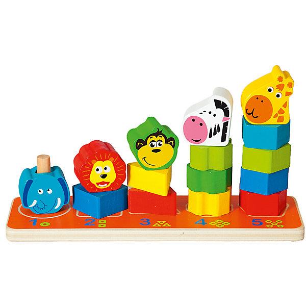 Пирамидка Mapacha СафариДеревянные игрушки<br>Характеристики товара:<br><br>• возраст: от 3 лет;<br>• комплектация: игровое поле, 15 деталей;<br>• материал: дерево;<br>• размер: 26х8х15 см;<br>• вес: 515 гр.<br><br><br>Пирамидка «Сафари» увлекательная и развивающая игра для ребенка. <br><br>В набор входит игровое поле и 15 деталей, из которых ребёнку предстоит собрать и выстроить по росту пирамидки в виде экзотических животных: слоника, льва, обезьянки, зебры и жирафика. <br><br>Элементы каждой пирамидки имеют определённую форму и количество деталей, а подсказка нарисована на игровом поле.<br><br>Игра сделана из древесины высокого качества. Такое изделие поспособствует развитию у ребенка мелкой моторики рук, логики, фантазии, учит основные цвета, усваивает понятия больше и меньше.<br><br>Пирамидка «Сафари» можно купить в нашем интернет-магазине.<br>Ширина мм: 260; Глубина мм: 80; Высота мм: 150; Вес г: 515; Возраст от месяцев: -2147483648; Возраст до месяцев: 2147483647; Пол: Унисекс; Возраст: Детский; SKU: 7190154;