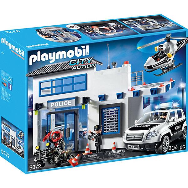 PLAYMOBIL® Конструктор Playmobil Полицейский участок, 30 деталей playmobil® конструктор playmobil вражеский квадроцикл с трицератопсом 7 деталей