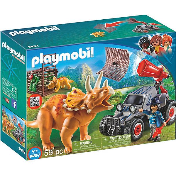 PLAYMOBIL® Конструктор Playmobil Вражеский квадроцикл с трицератопсом, 7 деталей playmobil® конструктор playmobil вражеский квадроцикл с трицератопсом 7 деталей