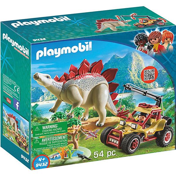 PLAYMOBIL® Конструктор Исследовательский транспорт со стегозавром toytoys конструктор транспорт toto 066