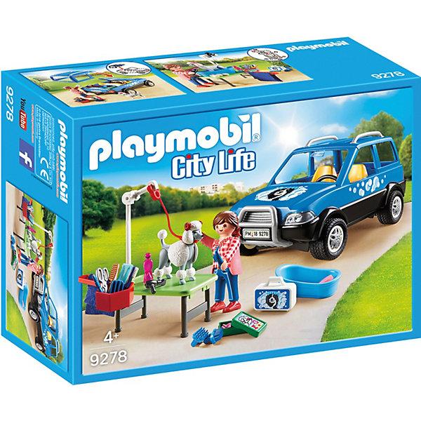 PLAYMOBIL® Конструктор Playmobil «Отель для животных: Мобильный грумер для животных» playmobil® конструктор playmobil полиция блокпост полиции