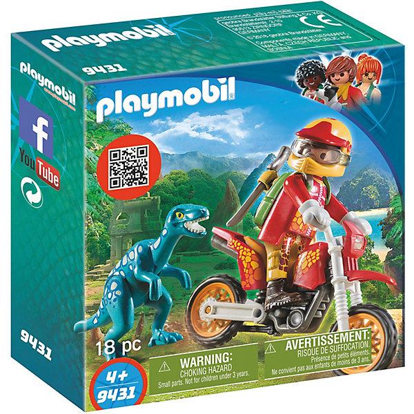 PLAYMOBIL® Конструктор Playmobil Гоночный мотоцикл с ящером, 7 деталей autogrand мотоцикл monza fuero gpx 7