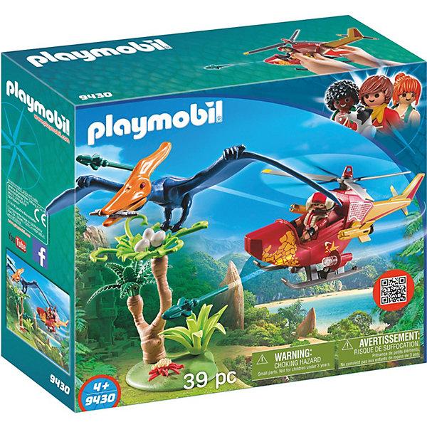 PLAYMOBIL® Конструктор Вертолет для приключений с птеродактилем playmobil® в поисках приключений самолет борется с огнем playmobil