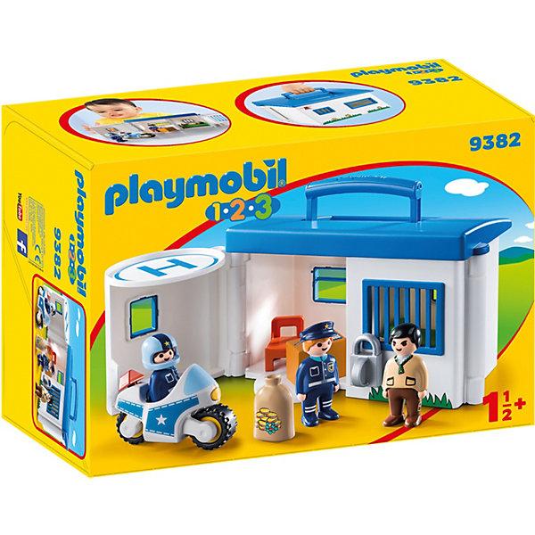 PLAYMOBIL® Конструктор Playmobil «Возьми с собой: Полицейский Участок» playmobil® конструктор playmobil полиция блокпост полиции