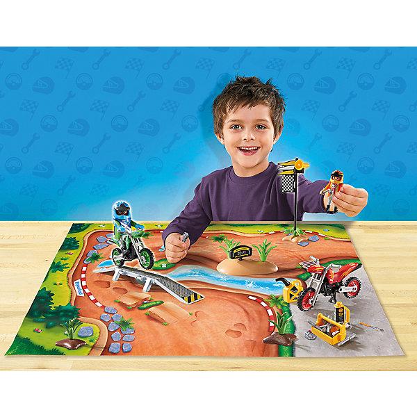 Игровой набор Playmobil Мототрасса , PLAYMOBIL®, Германия, Мужской  - купить со скидкой
