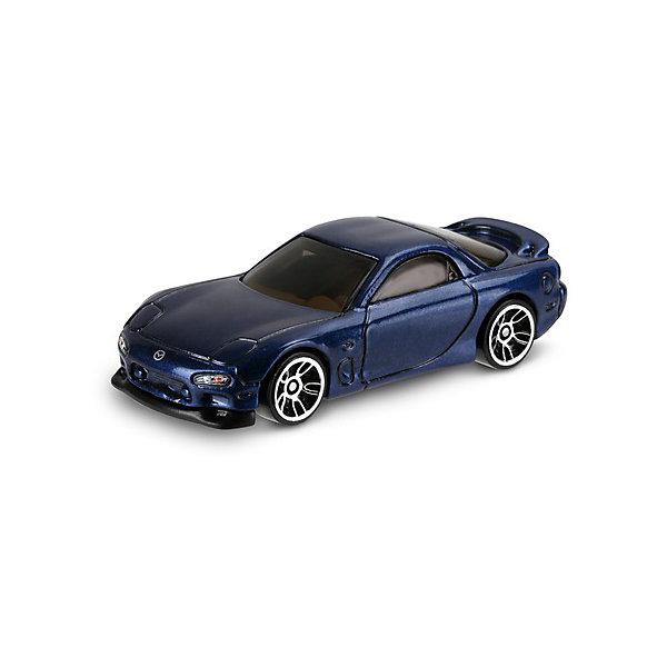Базовая машинка Mattel Hot Wheels, 95 Mazda RX-7Машинки<br>Характеристики:<br><br>• возраст: от 3 лет;<br>• материал: металл, пластмасса;<br>• вес упаковки: 30 гр.;<br>• размер упаковки: 11х4х11 см;<br>• тип упаковки: блистерный;<br>• страна бренда: США.<br><br>Машинка Hot Wheels от Mattel входит в группу моделей базовой коллекции. Миниатюры этой серии изображают реальные автомобили, спорткары, фургоны, мотоциклы в масштабе 1:64, а также модели с собственным оригинальным дизайном. Собрав свою линейку машинок, ребенок сможет устраивать заезды, гонки и меняться экземплярами с друзьями.<br><br>Монолитные элементы игрушки увеличивают ее прочность. Падение и столкновение с твердыми предметами во время игр не отражается на внешнем виде и ходе машинки. Кузов отчетливо детализирован, покрыт стойкими насыщенными красками. Колеса легко крутятся вокруг своей оси.<br><br>Игрушка выполнена из качественных материалов, сертифицированных по стандартам безопасности для использования детьми.<br><br>Машинку Hot Wheels из базовой коллекции можно купить в нашем интернет-магазине.<br>Ширина мм: 110; Глубина мм: 45; Высота мм: 110; Вес г: 30; Возраст от месяцев: 36; Возраст до месяцев: 96; Пол: Мужской; Возраст: Детский; SKU: 7191250;