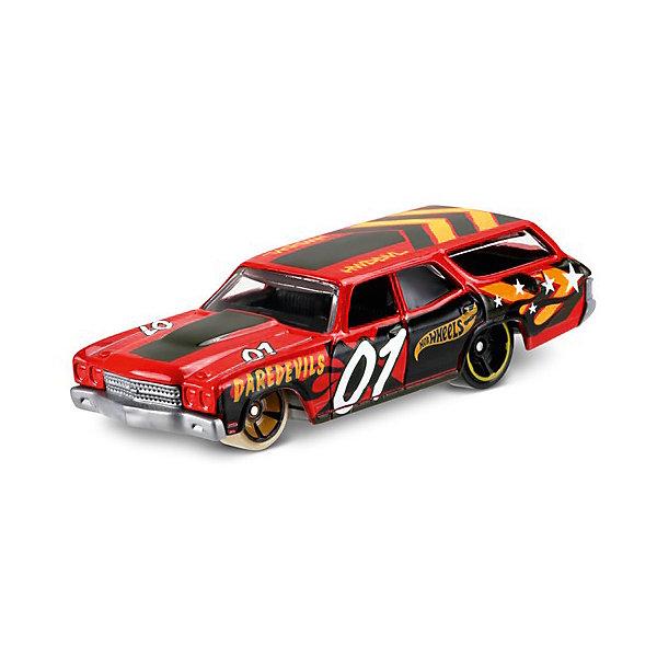 Базовая машинка Mattel Hot Wheels, 50 Chevelle SS WagonПопулярные игрушки<br>Характеристики:<br><br>• возраст: от 3 лет;<br>• материал: металл, пластмасса;<br>• вес упаковки: 30 гр.;<br>• размер упаковки: 11х4х11 см;<br>• тип упаковки: блистерный;<br>• страна бренда: США.<br><br>Машинка Hot Wheels от Mattel входит в группу моделей базовой коллекции. Миниатюры этой серии изображают реальные автомобили, спорткары, фургоны, мотоциклы в масштабе 1:64, а также модели с собственным оригинальным дизайном. Собрав свою линейку машинок, ребенок сможет устраивать заезды, гонки и меняться экземплярами с друзьями.<br><br>Монолитные элементы игрушки увеличивают ее прочность. Падение и столкновение с твердыми предметами во время игр не отражается на внешнем виде и ходе машинки. Кузов отчетливо детализирован, покрыт стойкими насыщенными красками. Колеса легко вращаются вокруг своей оси.<br><br>Игрушка выполнена из качественных материалов, сертифицированных по стандартам безопасности для использования детьми.<br><br>Машинку Hot Wheels из базовой коллекции можно купить в нашем интернет-магазине.<br>Ширина мм: 110; Глубина мм: 45; Высота мм: 110; Вес г: 30; Возраст от месяцев: 36; Возраст до месяцев: 96; Пол: Мужской; Возраст: Детский; SKU: 7191337;