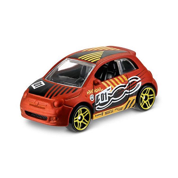 Mattel Базовая машинка Mattel Hot Wheels, Fiat 500 mattel машинка hot wheels из базовой коллекции